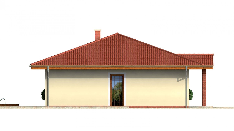 Pohľad 2. - Rodinný dom so stanovou strechou.