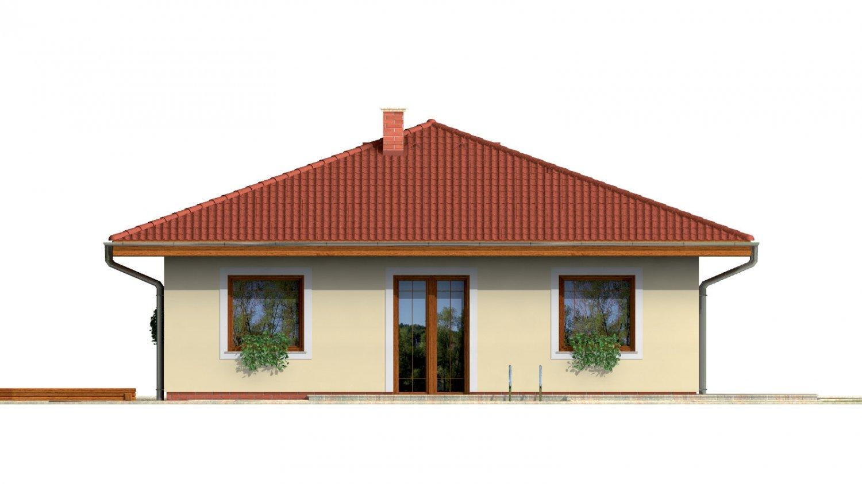 Pohľad 3. - Rodinný dom so stanovou strechou.