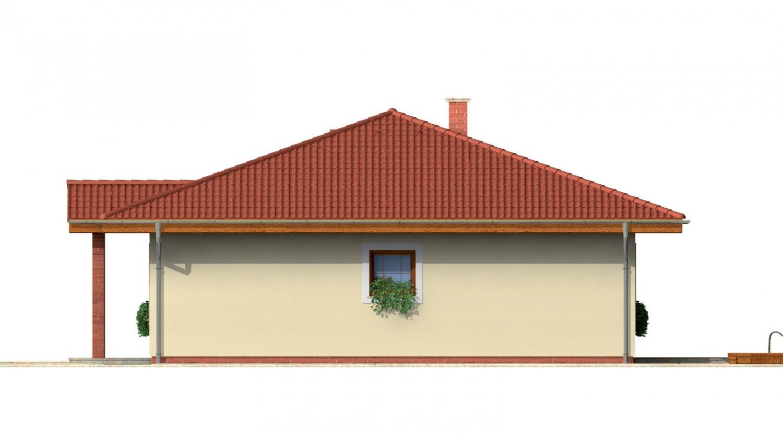 Pohľad 4. - Rodinný dom so stanovou strechou.