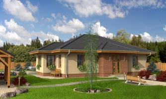 Patrí medzi obľúbené projekty rodinných domov pre menšie rodiny