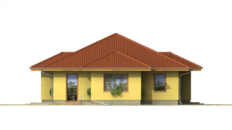 Pohľad 4. - Patrí medzi obľúbené projekty rodinných domov pre menšie rodiny.