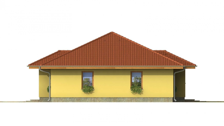 Pohľad 2. - Patrí medzi obľúbené projekty rodinných domov pre menšie rodiny.