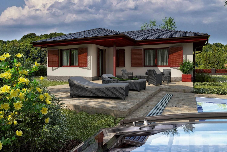 projekt domu BUNGALOW 70