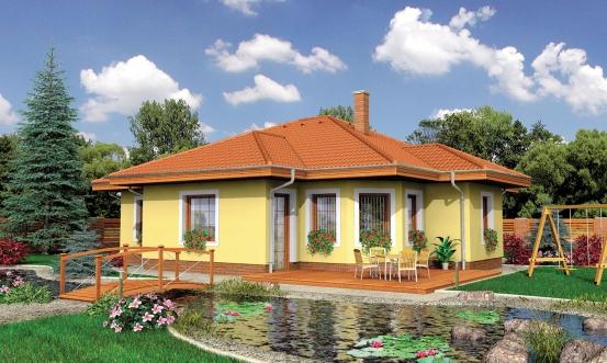 projekt domu BUNGALOW 71