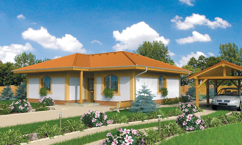 projekt domu BUNGALOW 72
