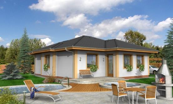 projekt domu BUNGALOW 74