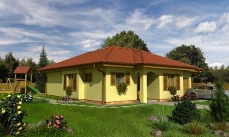 Projekt domu s garážou.