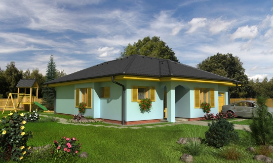 projekt domu BUNGALOW 77