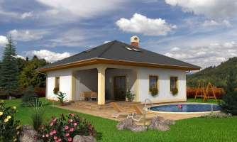 Dom s terasou s podkrovím a suterénom