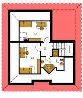 Pôdorys poschodia - BUNGALOW 78