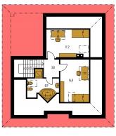 Zrkadlový obraz | Pôdorys poschodia - BUNGALOW 78