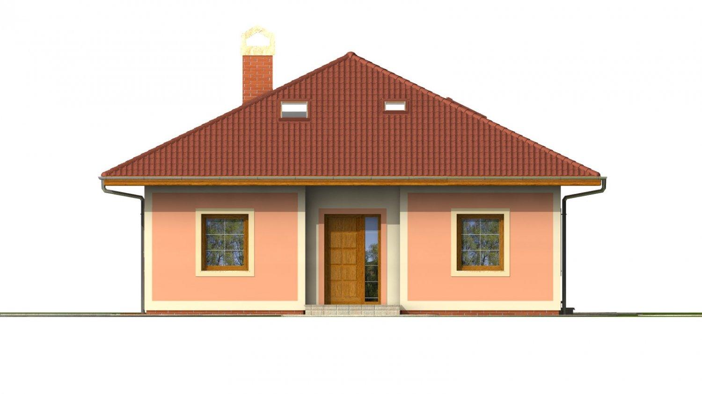 Pohľad 1. - Dom s podkrovím a suterénom.
