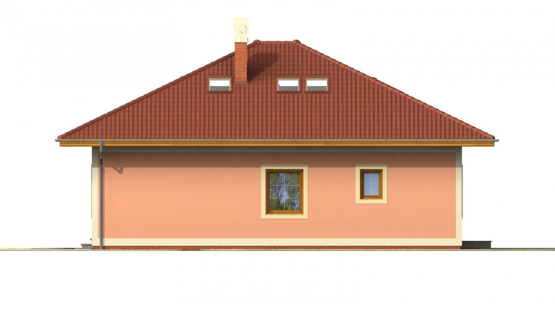 Pohľad 2. - Dom s podkrovím a suterénom.