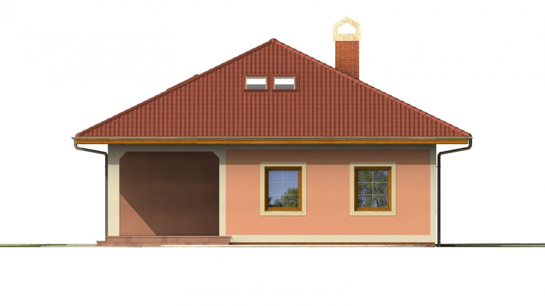 Pohľad 3. - Dom s podkrovím a suterénom.