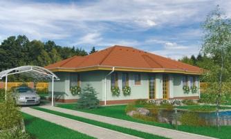 Členitejší bungalov pre 5 člennú rodinu.