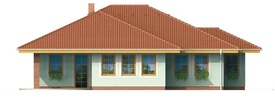 Pohľad 3. - Členitejší bungalov pre 5 člennú rodinu.