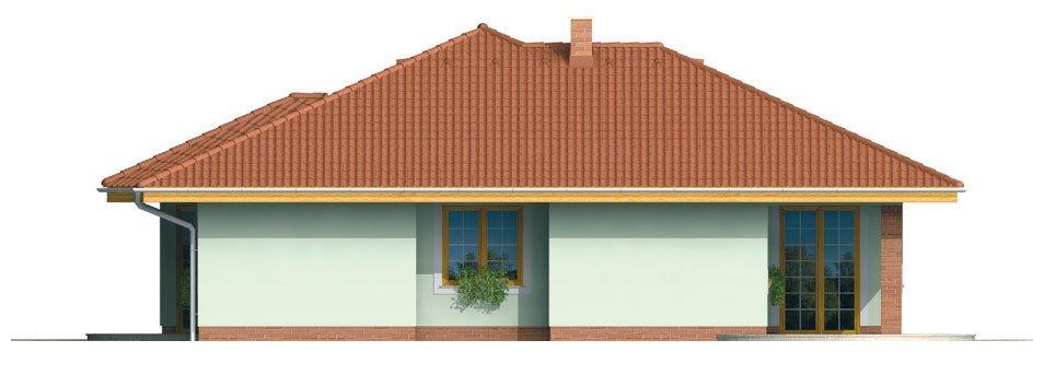 Pohľad 4. - Členitejší bungalov pre 5 člennú rodinu.