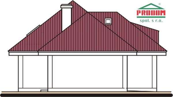 Pohľad 2. - Rodinný dom s podkrovím a garážou