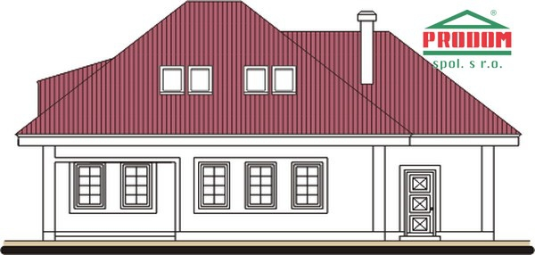 Pohľad 3. - Rodinný dom s podkrovím a garážou