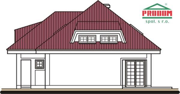 Pohľad 4. - Rodinný dom s podkrovím a garážou