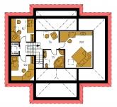 Zrkadlový obraz   Pôdorys poschodia - BUNGALOW 81
