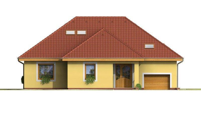 Pohľad 1. - Dom s tromi úrovňami bývania.