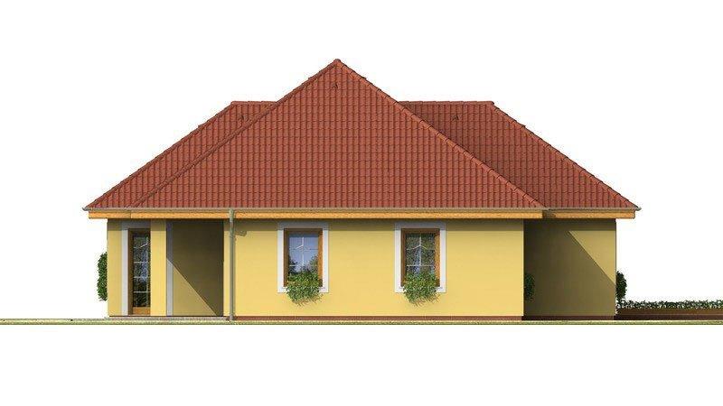 Pohľad 2. - Dom s tromi úrovňami bývania.