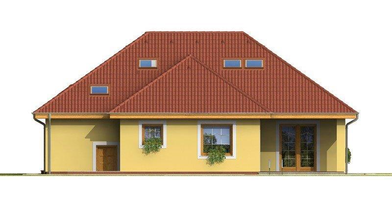 Pohľad 3. - Dom s tromi úrovňami bývania.