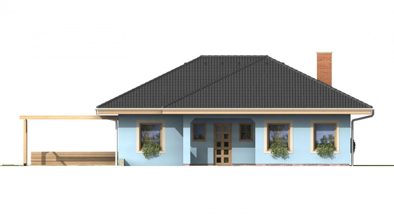 Pohľad 1. - Dom s garážou v suteréne