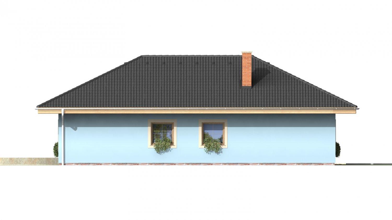 Pohľad 4. - Dom s garážou v suteréne