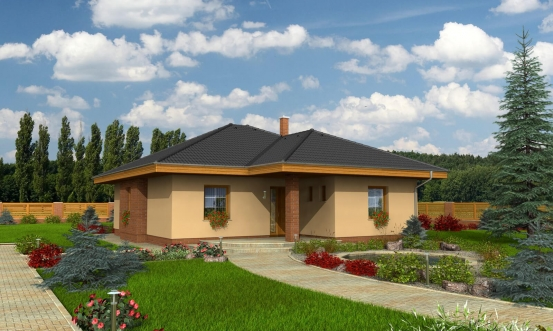 projekt domu BUNGALOW 84