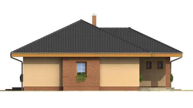 Pohľad 1. - Nádherný rodinný dom s terasou s členitou strechou a oblúkovým jedálenským kútom.