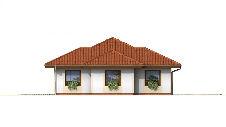 Pohľad 2. - Dom vhodný na užší pozemok s oblúkovou jedálňou.