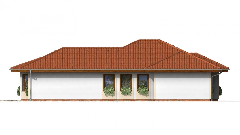 Pohľad 3. - Dom vhodný na užší pozemok s oblúkovou jedálňou.