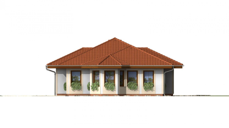 Pohľad 4. - Dom vhodný na užší pozemok s oblúkovou jedálňou.