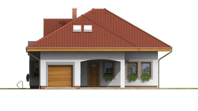 Pohľad 1. - Exkluzívny rodinný dom s obytným podkrovím
