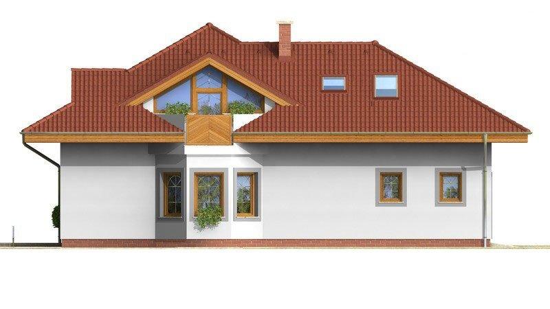 Pohľad 2. - Exkluzívny rodinný dom s obytným podkrovím