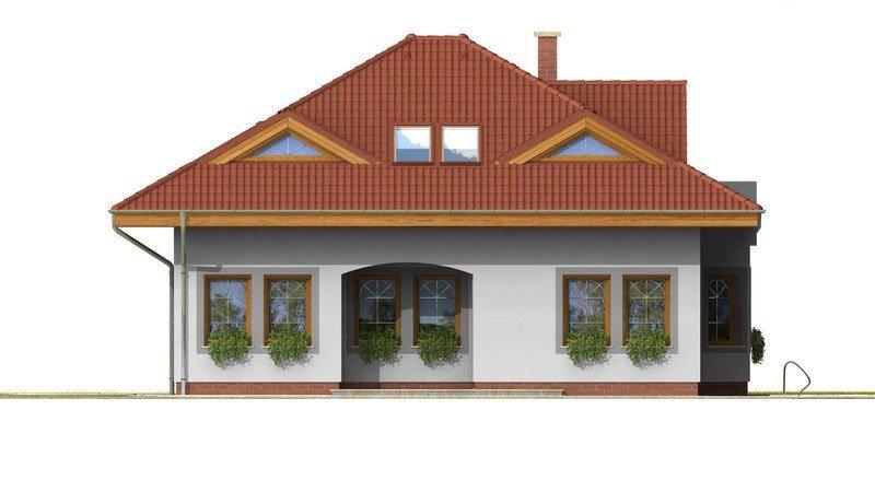 Pohľad 3. - Exkluzívny rodinný dom s obytným podkrovím