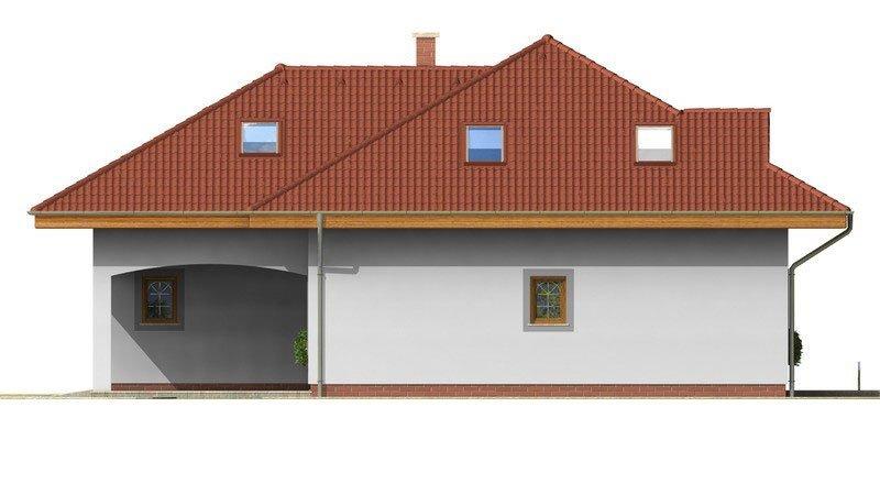 Pohľad 4. - Exkluzívny rodinný dom s obytným podkrovím
