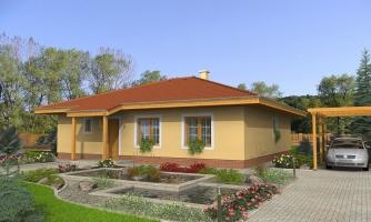Rodinný dom s valbovou strechou a oblúkovou jedálňou