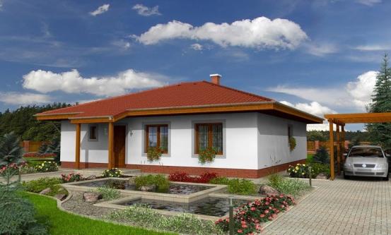 projekt domu BUNGALOW 91