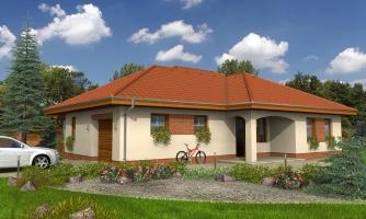 Dom s garážou, terasou a bočným vstupom