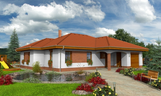 projekt domu BUNGALOW 93