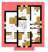 Pôdorys poschodia - COMFORT 107