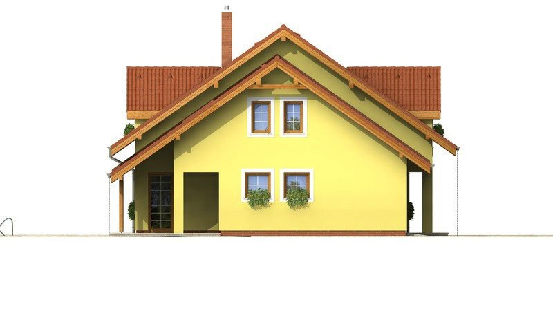 Pohľad 2. - Dom s obytným podkrovím a garážou