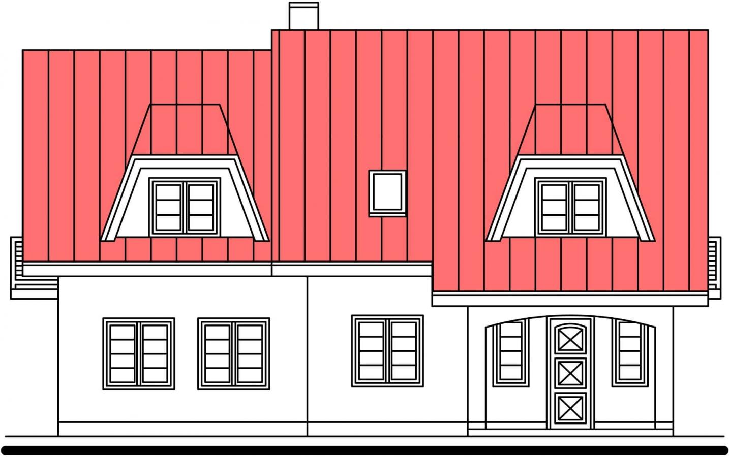 Pohľad 1. - Vidiecky rodinný dom.