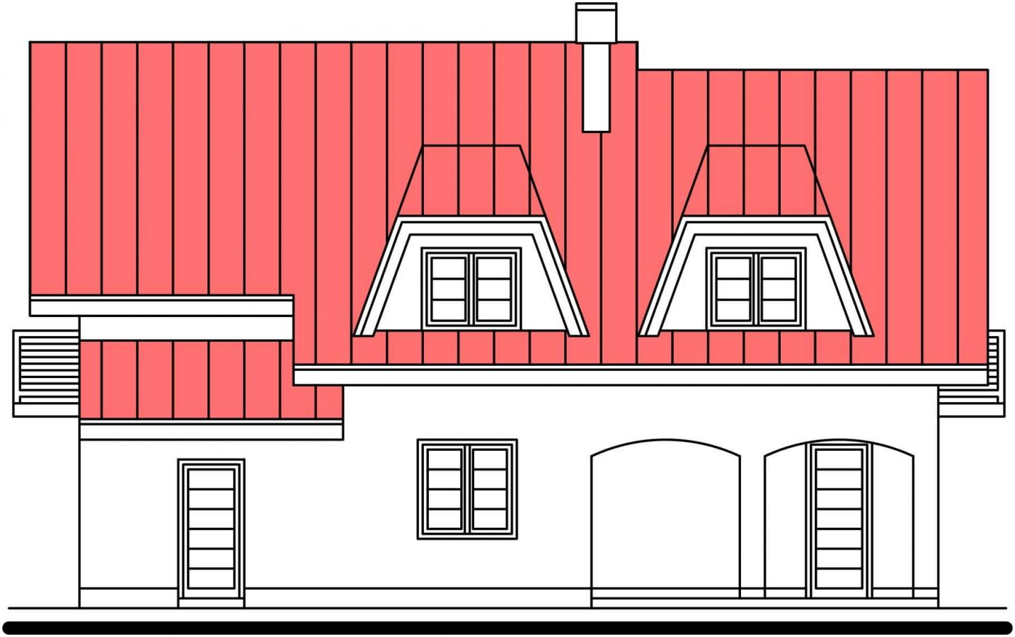 Pohľad 3. - Vidiecky rodinný dom.