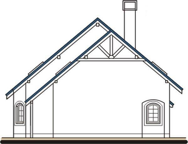 Pohľad 4. - Dom s obytným podkrovím a garážou