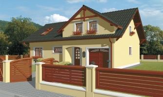 Podkrovný dom s veľkou obývačkou