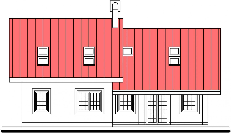 Pohľad 3. - Podkrovný dom s veľkou obývačkou